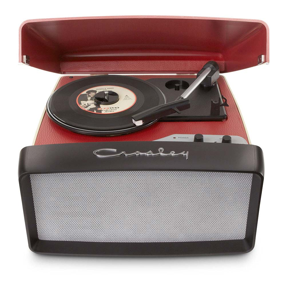 Buy Crosley Collegiate Turntable Red Rockit Record Players
