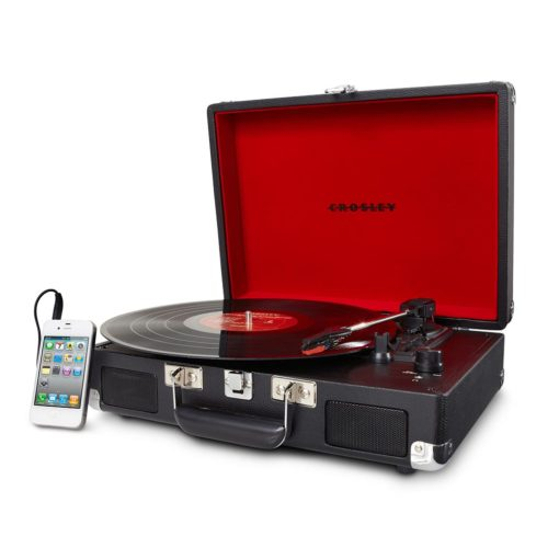 Crosley Cruiser Portable Turntable - Black-SIDE 1