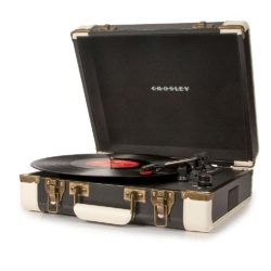 Crosley Executive USB Portable Turntable - Black-SIDE