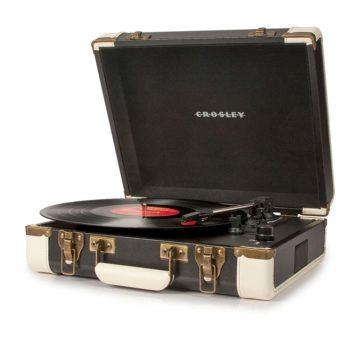 Crosley Executive USB Portable Turntable - Black-SIDE