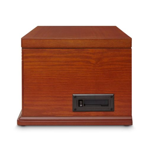 Crosley Lancaster Entertainment Center - Paprika-CLOSED CASE BACK