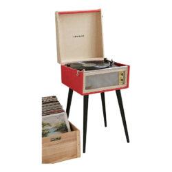 Red Crosley Bermuda Vintage Turntable
