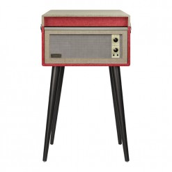 Red Crosley Bermuda Vintage Turntable - Case