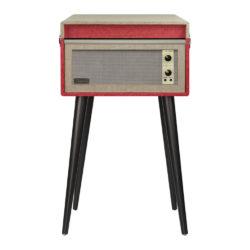 Red Crosley Bermuda Vintage Turntable - Case