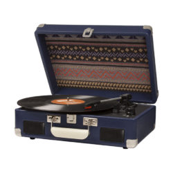 Blue Crosley Cruiser Portable Turntable With Battery Pack