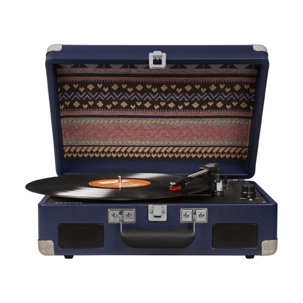Superb Blue Crosley Cruiser Portable Turntable With Battery Pack   Front