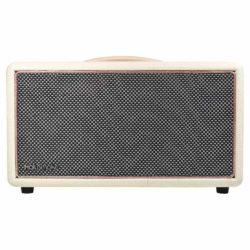 White & Rose Gold HolySmoke Birdwood Bluetooth Retro Speaker - Front