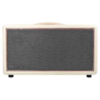 White & Rose Gold HolySmoke Birdwood Bluetooth Retro Speaker - Front