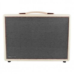 White & Rose Gold HolySmoke Joy Street Bluetooth Retro Speaker - Front