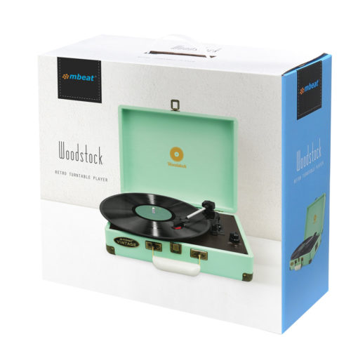 mBeat Woodstock record player tiffany blue box
