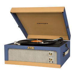 Crosley Dansette Junior Record Player CR6234A Side View with Front Speaker open lid