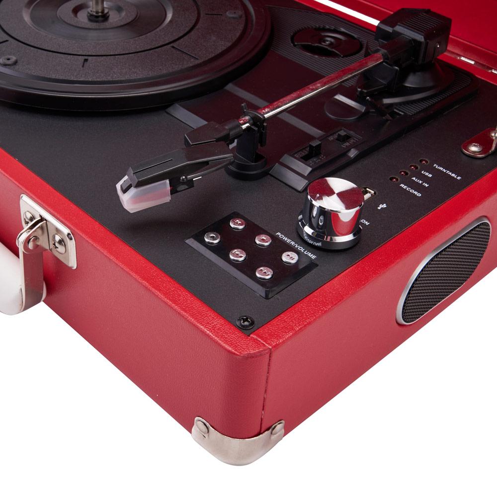 Red GPO Attaché Case Turntable Vinyl Record Player ...