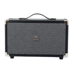GPO westwood bluetooth speaker black front view