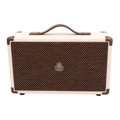 GPO westwood bluetooth speaker cream frontview