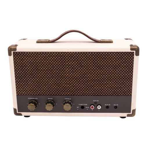 GPO westwood bluetooth speaker in cream with controls and aux
