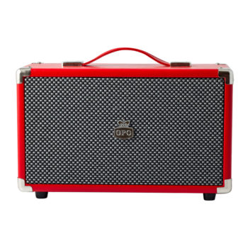 Red GPO westwood bluetooth speaker frontview