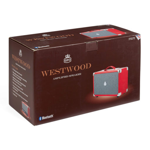 Red GPO westwood bluetooth speaker in a box