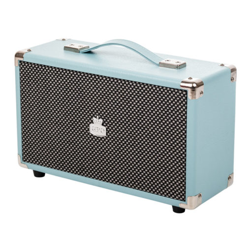 GPO westwood bluetooth speaker skyblue right angle view