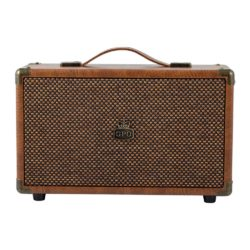GPO westwood bluetooth speaker vintage brown frontview