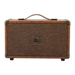 GPO westwood bluetooth speaker vintage brown frontview