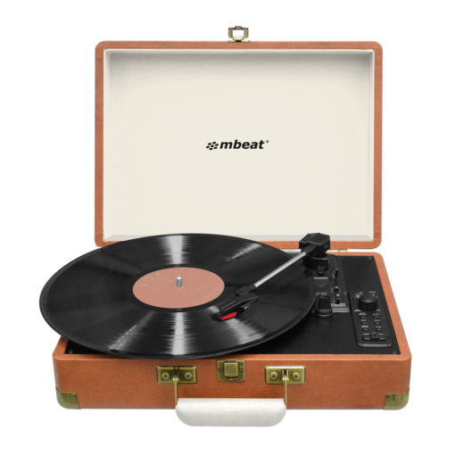 mbeat Retro Turntable Recorder with Bluetooth & USB