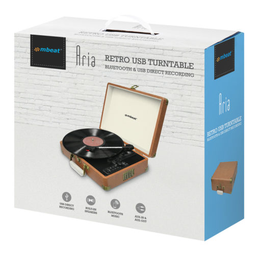 Boxed mbeat Retro USB and BT in Turntable