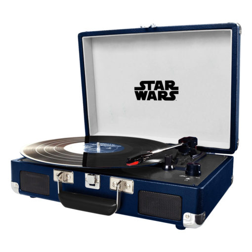 Crosley Cruiser Deluxe Turntable with special Star Wars Edition classic movie poster over the record player case