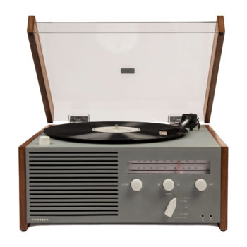 Front view image of Crosley Otto Entertainment Center Turntable