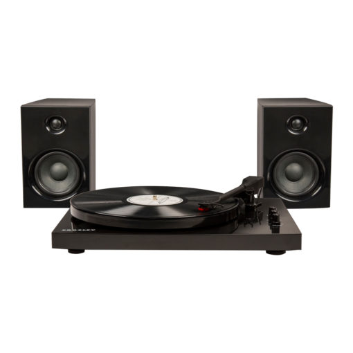 Front view photo of Crosley T100 turntable in black colour