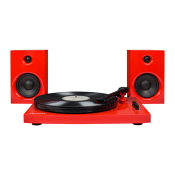 Red Crosley T100 Turntable front image