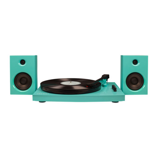 Crosley T100 turntable in turquoise colour
