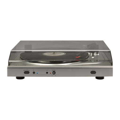 Crosley T300 turntable in silver colour