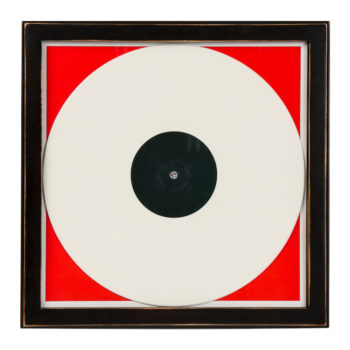 Front view of Crosley brand wood vinyl record frame