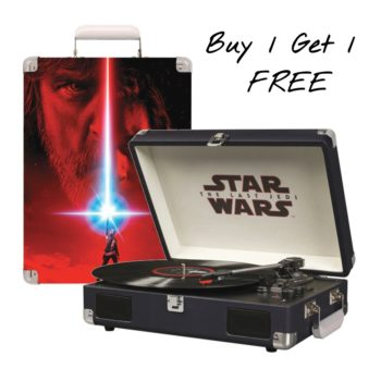 Buy 1 get 1 free Star Wars last Jedi Turntable offer