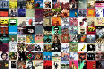 Collage of vinyl record covers
