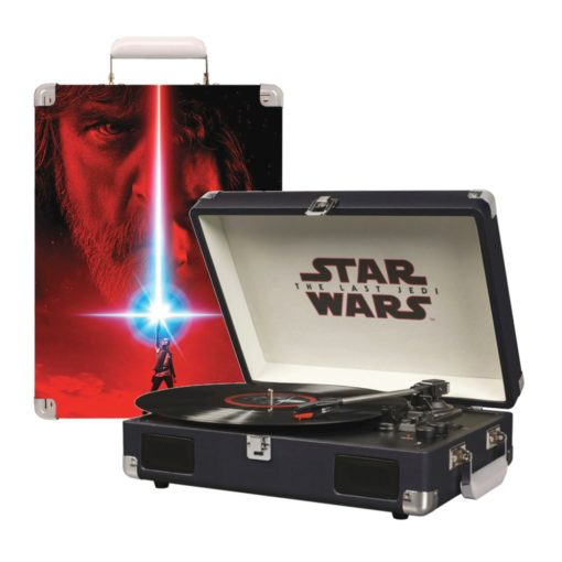 Star Wars last Jedi turntable showing outer case artwork and opened platter