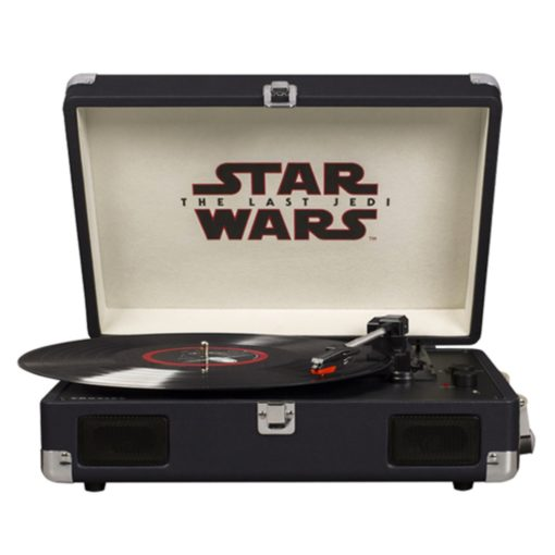 Front view of Star Wars last Jedi turntable