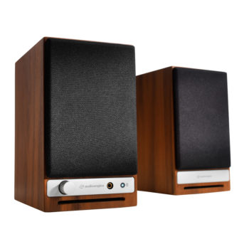 Photo of Audioengine HD3 Powered Speakers with walnut outer case