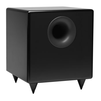Photo of S8 powered subwoofer speaker in black colour