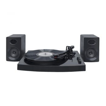 Front image of mbeat® PRO-M Stereo Turntable System with Bluetooth in black colour