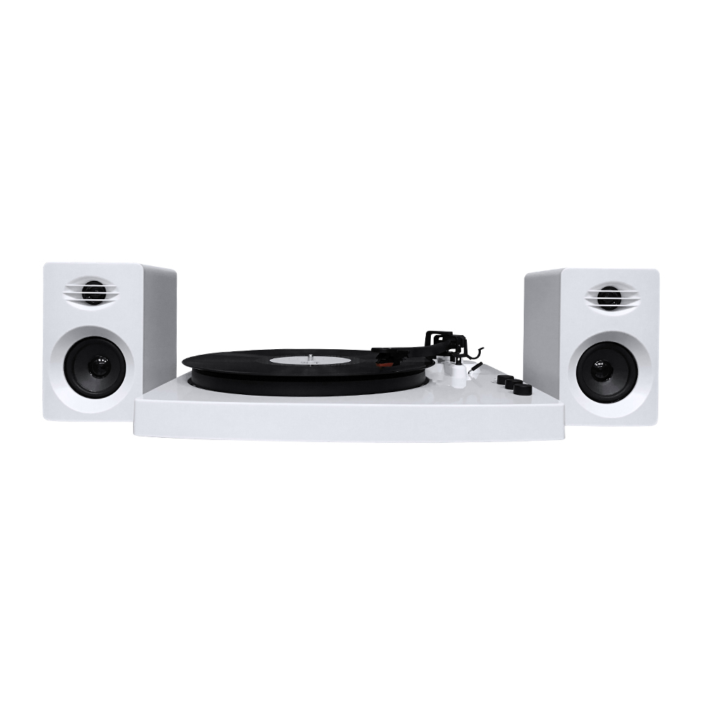 MBeat PRO-M Stereo Turntable System with Bluetooth - White
