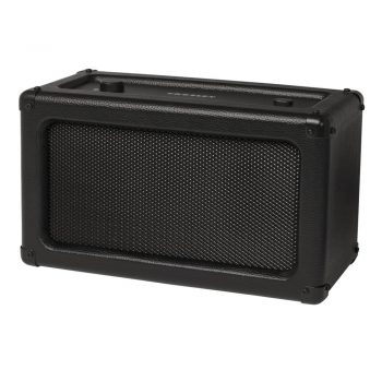 Angled view of Crosley Charlotte Speaker in black colour