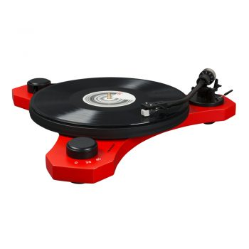 Photo of Crosley C3 turntable in red colour