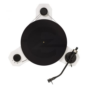 Top view photo of Crosley C3 turntable in white colour
