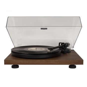 Image of Crosley C6 turntable in walnut finish