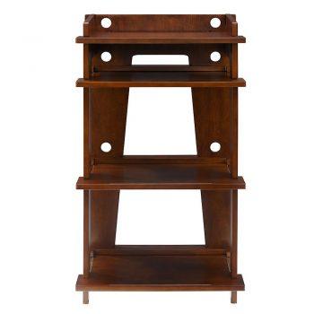 Front image of mahogany Crosley SOHO Turntable stand