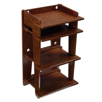 Top shot of Crosley Soho Turntable Stand in mahogany colour